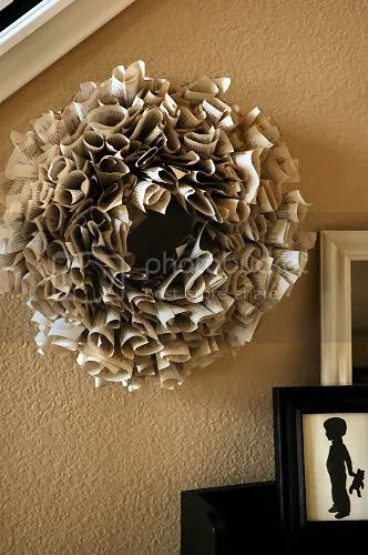 Living with Lindsay Ruffly Wreath
