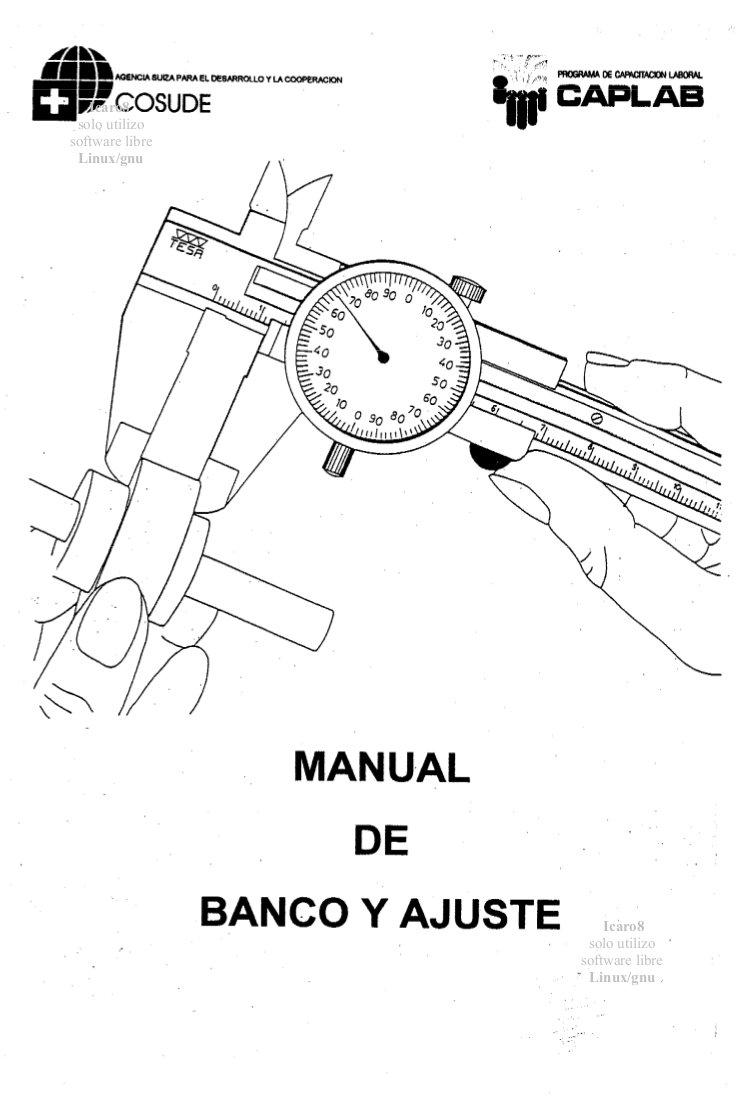 Banco y ajuste (manual)