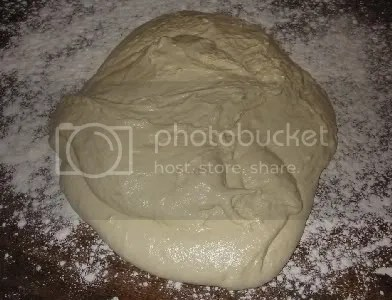 dough poured