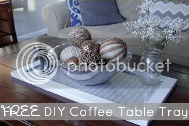 FREE DIY Coffee Table Tray