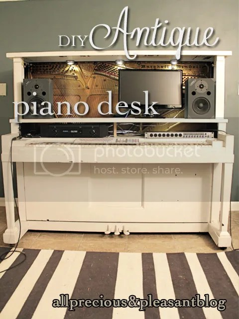 DIY Antique Piano Desk.