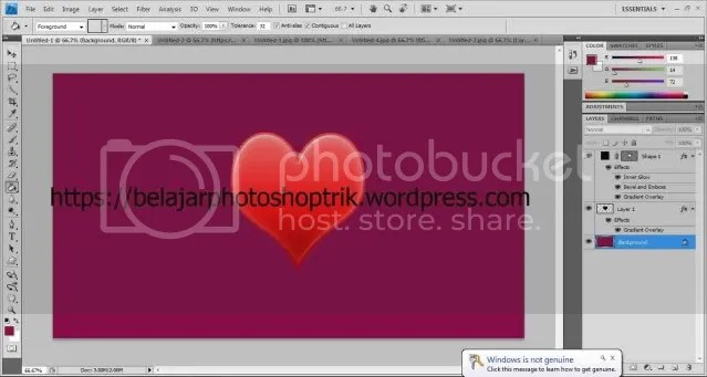 Belajar Photoshop 10 Langkah Mudah Membuat Icon Hati Yang Menarik !