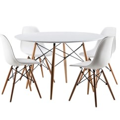 Eames Bucket Chair Bar Chairs Inspired Eiffel Retro Design Style Table Dining Set With 4 Chairs-not | Ebay