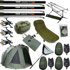 Ngt Fishing Chair Exercise Accessories Full Carp Set Up Three Rib Bivvy Tent Bed 3