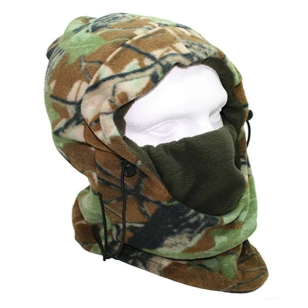 Deluxe Camo Snood With Face Guard Fishing Hunting Warmer
