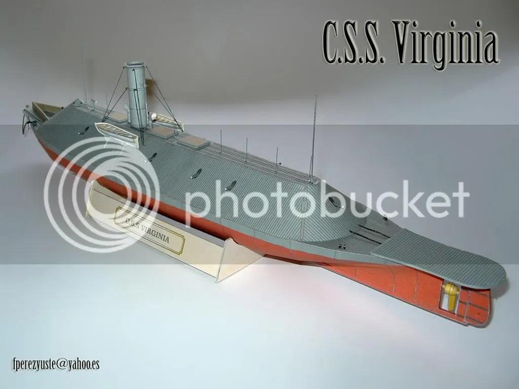 uss monitor diagram norcold refrigerator wiring 1 200 css virginia paper model heinkel models wargame
