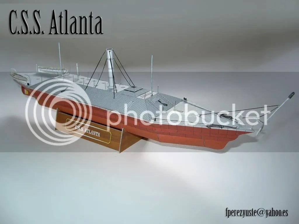 uss monitor diagram 1994 ford f150 radio wiring 1 200 css atlanta paper model heinkel models wargame vault