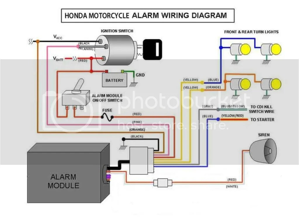 motorcycle alarm system wiring diagram yamaha g2 electric golf cart diy your electrical accessories page 44
