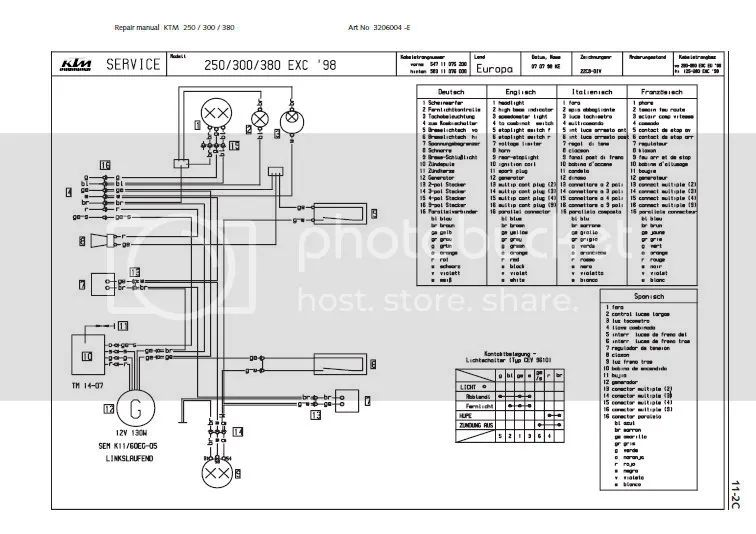 ktm 525 sx wiring diagram