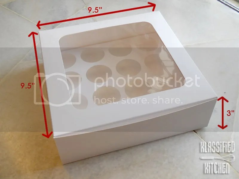 White Windowed Cupcake Boxes in White Windowed Box so They