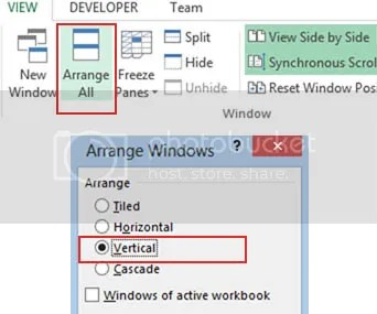 How to View Excel 2013 Spreadsheets Side-by-Side for Comparison ...