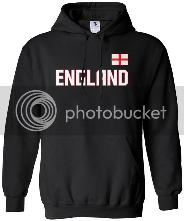 Threadrock Men' England National Team Hoodie Sweatshirt