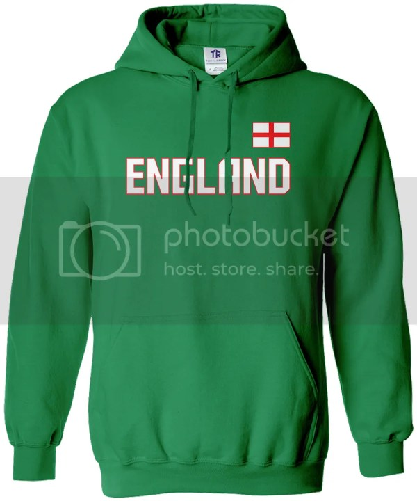 Threadrock Men' England National Team Hoodie Sweatshirt