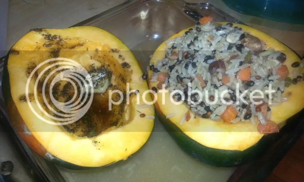 Wild Rice Pilaf Stuffed Acorn Squash (6/6)