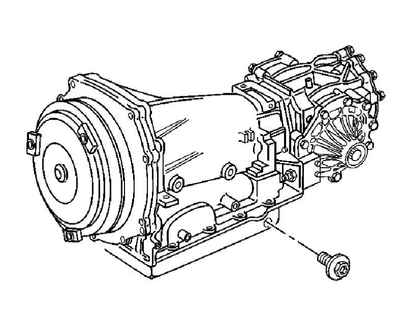 Auto Transmission Mount Diagram For A 1971 Corvette