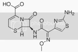 question about 3rd generation cephalosporins and structure