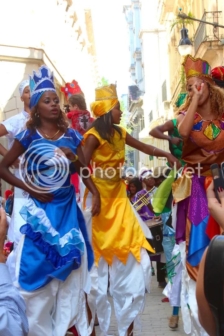 Dancing in the streets of Havana, Cuba