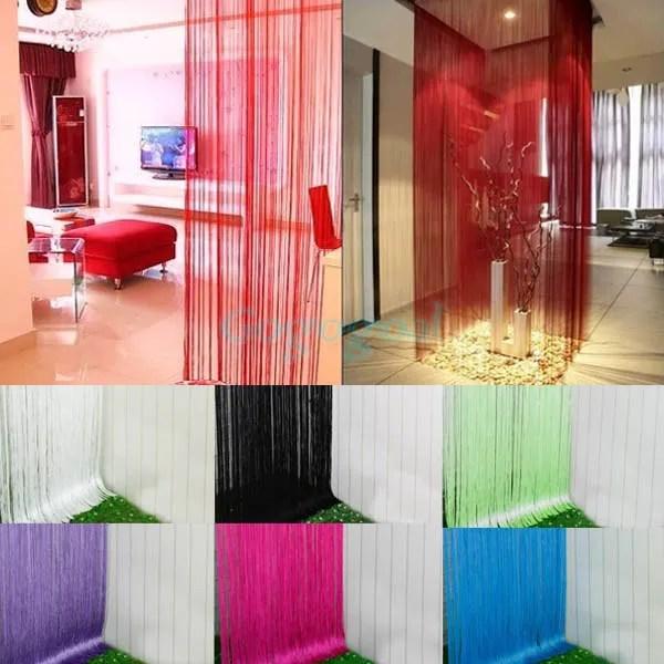 String Door Curtain Fly Screen Divider Room Window Decor DIY Blind