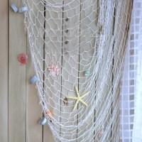 UK Decorative Nautical Fishing Balloon Net Beach Scene ...