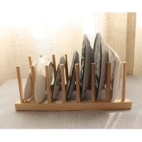 Kitchen Wooden Cup Plate Drainer Cutlery Dish Drying Rack ...