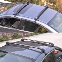 UNIVERSAL BLACK ANTI THEFT CAR ROOF BARS - CARS WITHOUT ...