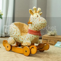 Giraffe Rocking Chair Kohls Outdoor Cushions Labebe Wooden Plush Ride On Toys Baby