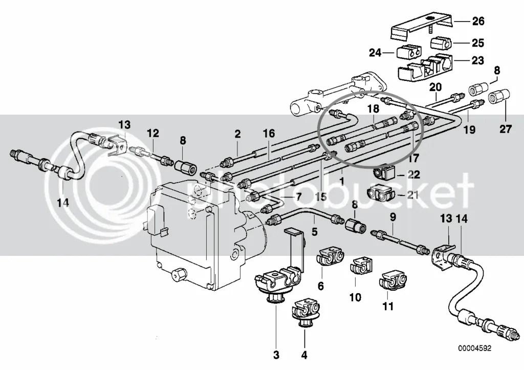E38 Brake Line Question