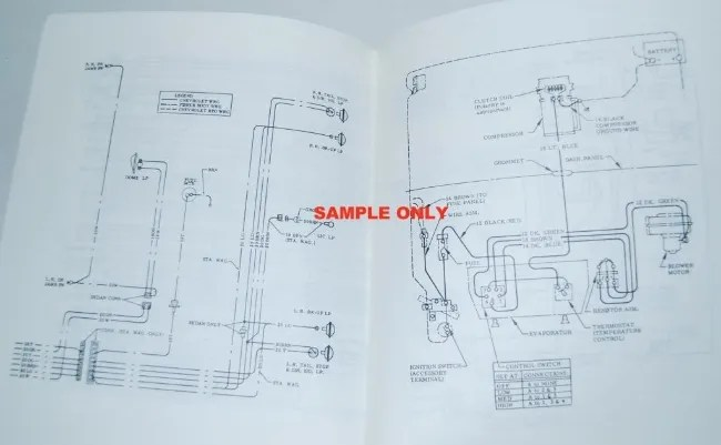 details about 67 1967 chevelle el camino electrical wiring diagram manual