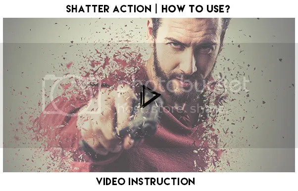 Shatter Photoshop Action - 1