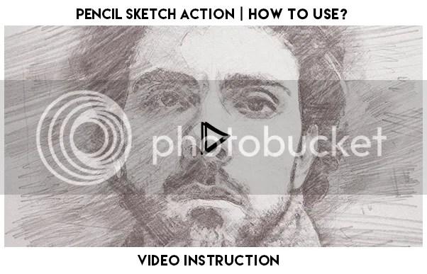 Pencil Sketch Photoshop Action - 1