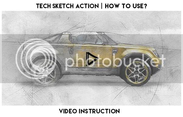 Tech Sketch Photoshop Action - 1