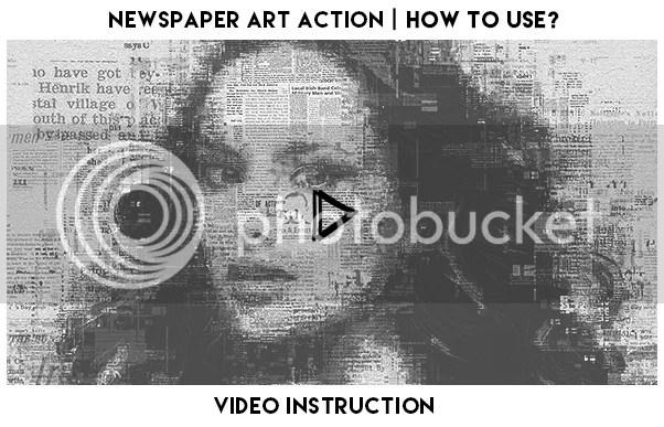 Newspaper Art Photoshop Action - 1