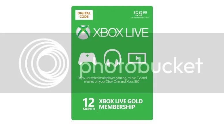 Xbox Live Gold 12 Month 365 Days Microsoft Membership Card