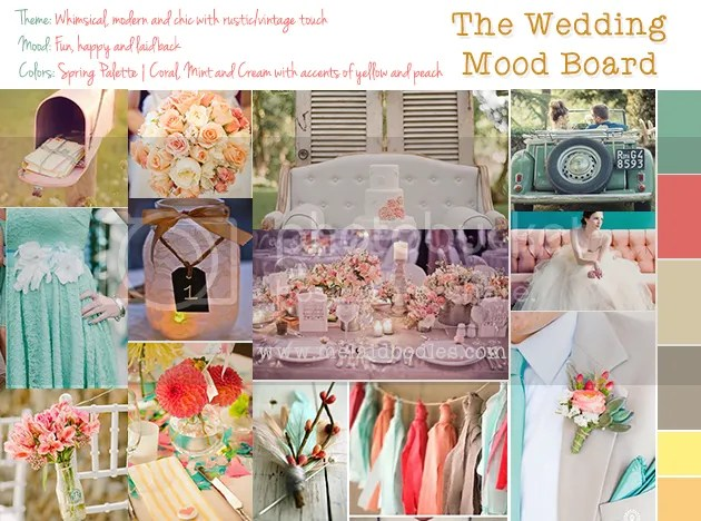 sping wedding mood board
