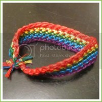 Crocheted Rainbow Bracelet