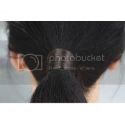 synthetic hair ponytail holders