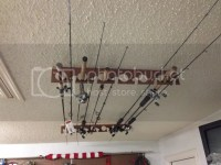 Made a garage ceiling fishing rod rack...