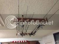 Made a garage ceiling fishing rod rack... | Kayak Fishing ...