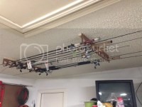 Made a garage ceiling fishing rod rack... | Kayak Fishing ...