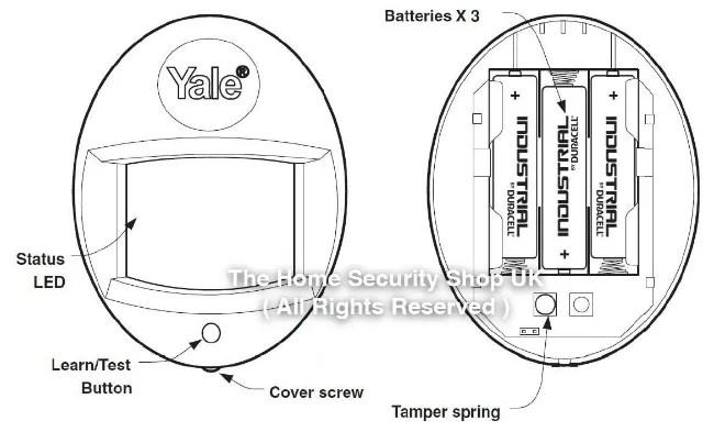 Yale Alarms HSA6020-HSA6000 PIR Detector Battery KIT INC
