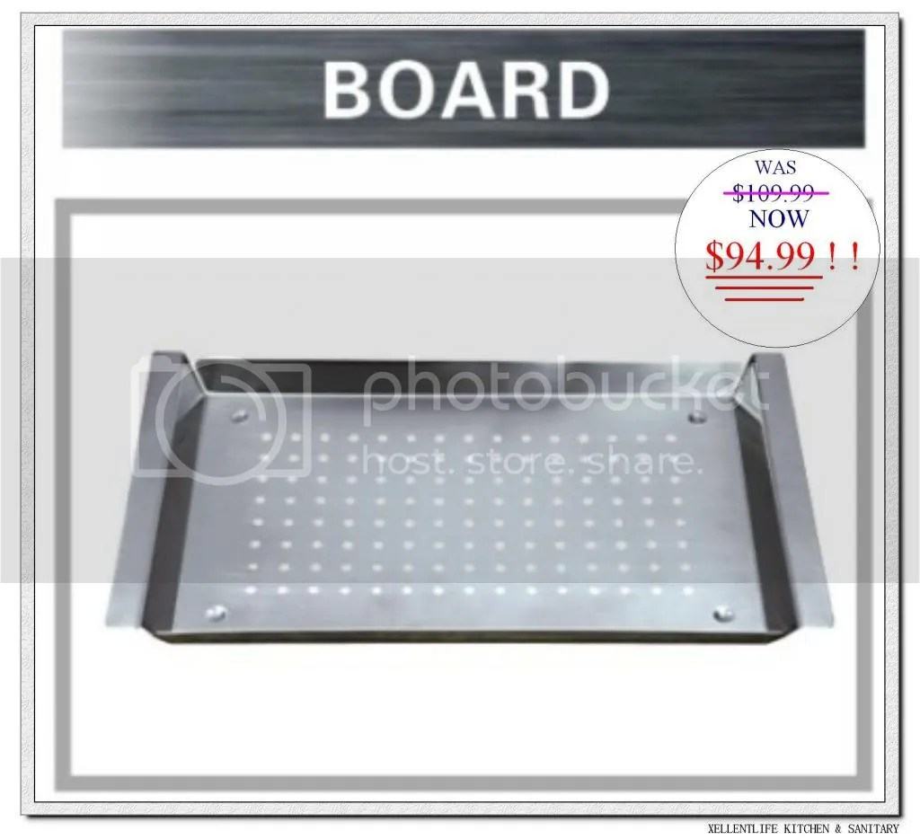 kitchen sinks with drain boards chair seat replacement board bar sink accessory deducted for