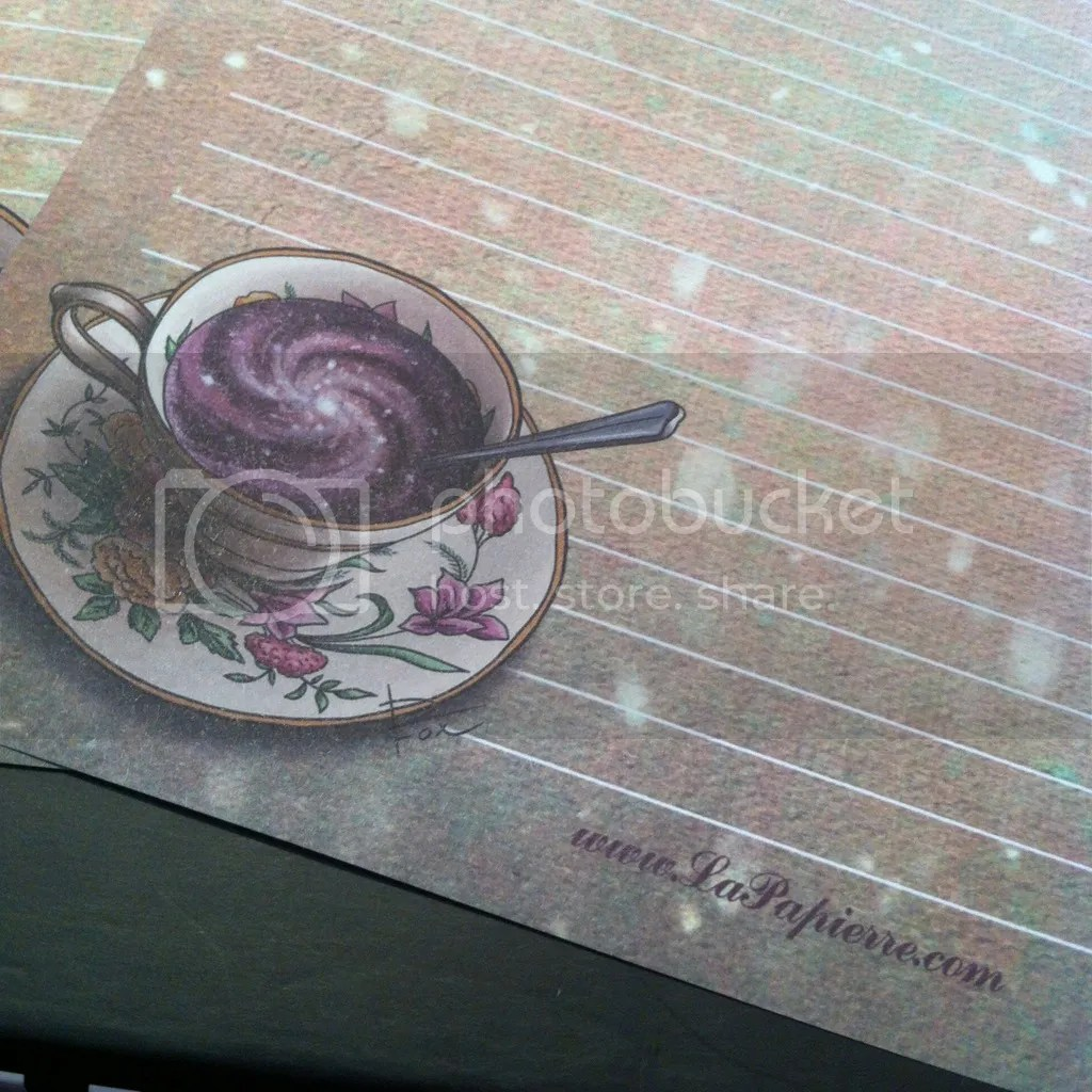 A Cup of Galaxy Letter Writing Stationary from La Papierre