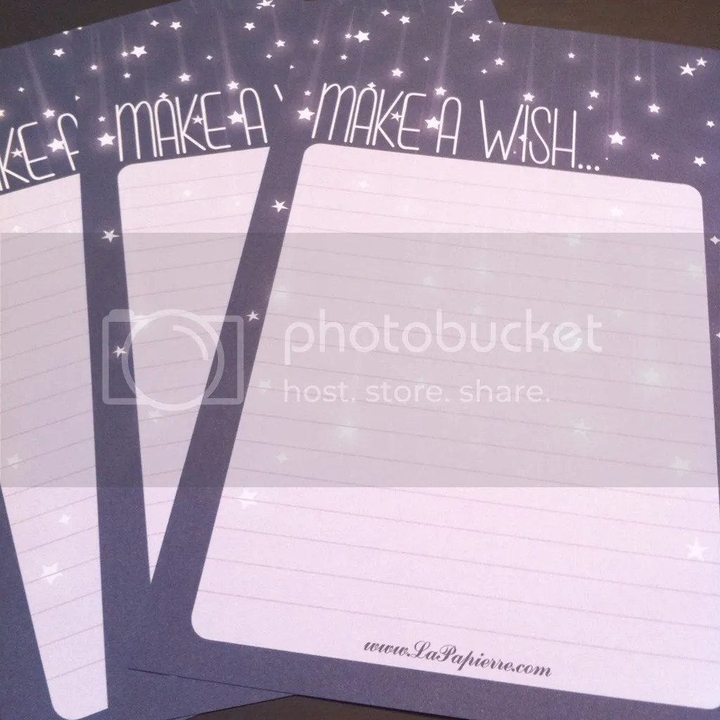 Make a Wish Letter Writing Stationary from La Papierre