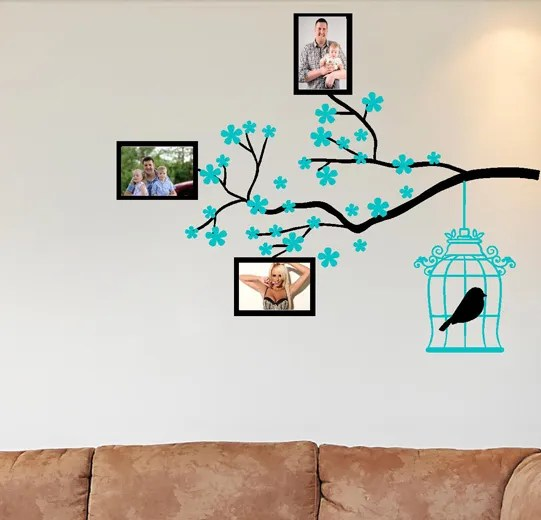 Photo Frame Tree Branch Wall Sticker WALL ART DECAL VINYL