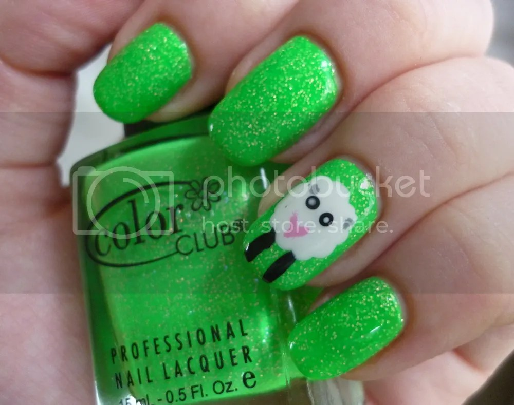 Color Club Glitter Envy Swatch La Moon Nails