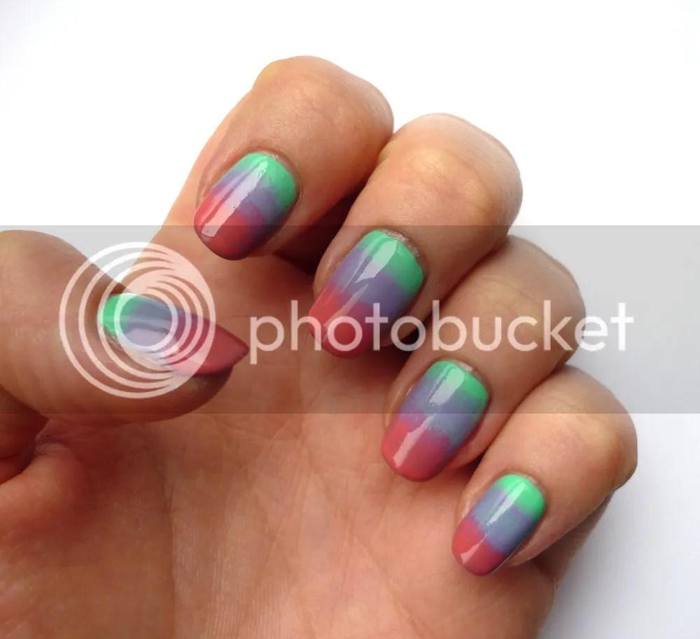 Sponge nail art ombre La Moon Nails
