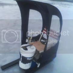 Ice Fishing Chair Side Chairs Without Arms My Homemade 15 Sled Aka The Quotsmitty Quot