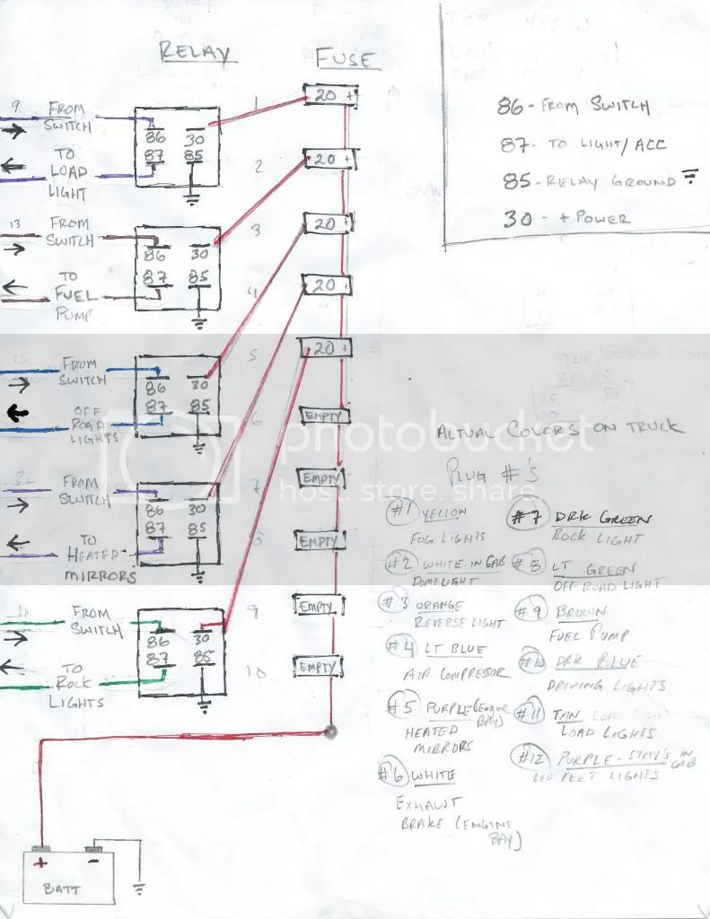 4 pin carling switch wiring diagram