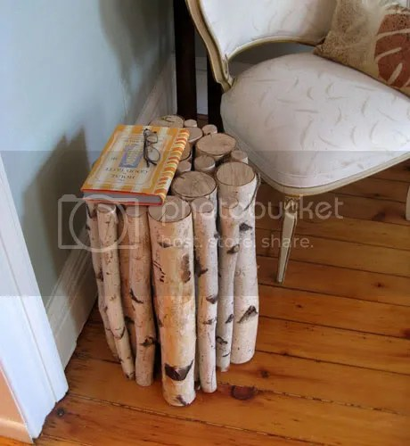 birch log stool