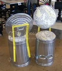 steel trash can stool